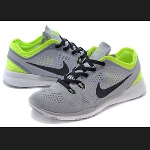 Nike Free 5.0 Gray and Green Running Shoes
